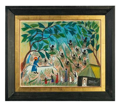 Sylvestre Kaballa * (1920 ?, DR Kongo) (DR Congo 1920 ?) Elville, 1955, signed, …