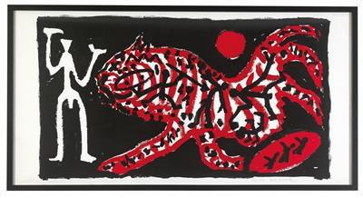 "A.R. Penck * (Dresden 1939 2017 Zürich) (Dresden 1939–2017 Zürich) ""Tiger und Jä…"