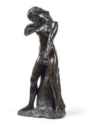 Auguste RODIN (Paris 1840 1917 Meudon) Faunesse debout version au rocher simple,…