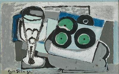 Emil Filla * (Chropyně, Moravie 1882 1953 Prague) Nature morte avec des disques …