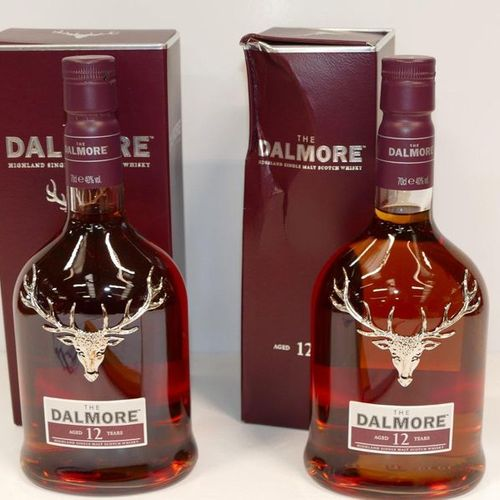 2 Btles The Dalmore Highland Single Malt Scotch Whisky 12 years old in cases, on…