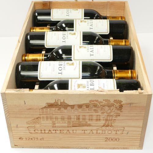 12 Btles Château Talbot 2000年第四届GCC圣朱利安酒会,原木箱IC 10/10 PM 专家:Emilie 和 Robert Gorr…