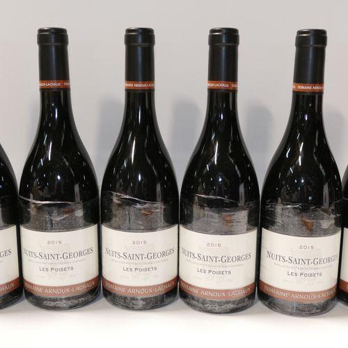 6 Btles Nuits Saint Georges Les Poisets 2015 Domaine Arnoux Lachaux IC 10/10 PM …