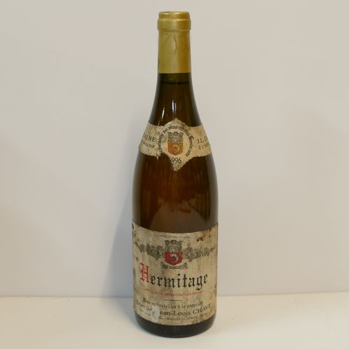 1 Btle Hermitage blanc 1996 Domaine Jean Louis Chave 脏领和标签,领子损坏 专家:Emilie 和 Robe…