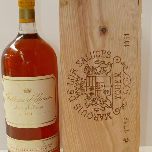 1 Impériale Château d'Yquem 1991 1er CCS Sauternes en caisse bois d'origine sans…