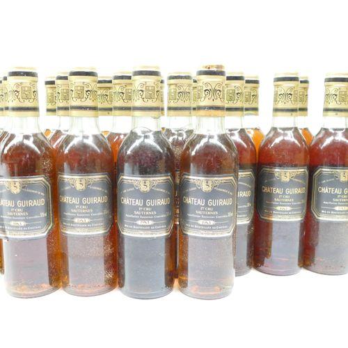 23半瓶Château Guiraud 1983 1er CC Sauternes,包括颈部底部的氧化胶囊,装在原来的木箱中 专家:Emilie 和 Rober…