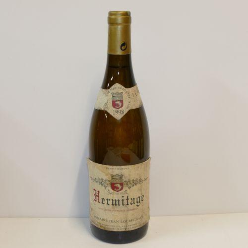 1 Btle Hermitage blanc 1998 Domaine Jean Louis Chave 脏领和标签,领子损坏 专家:Emilie和Robert…