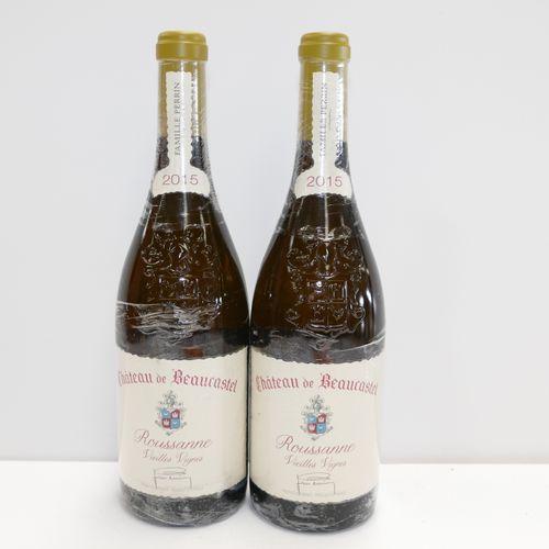 2 Btles Châteauneuf du Pape Château de Beaucastel blanc Roussanne Vieilles Vigne…