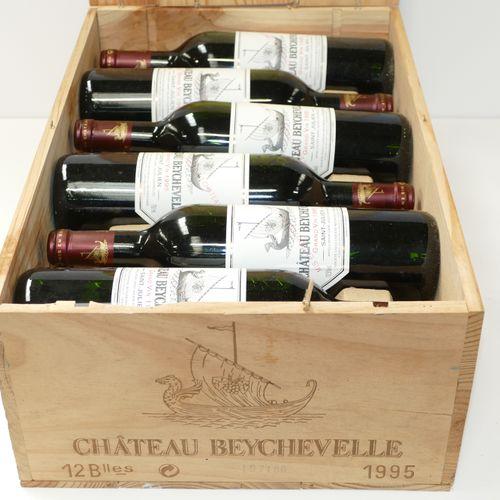 12 Btles Château Beychevelle 1995年第四届GCC圣朱利安酒会,原装木箱 IC 10/10 PM 专家:Emilie和Robert…