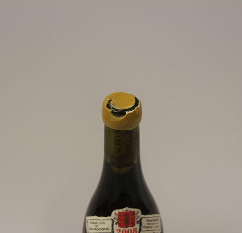 1 Btle Chablis Grand Cru Les Clos 2008 Domaine Vincent Dauvissat 蜡质受损的标签,非常轻微的脏污…