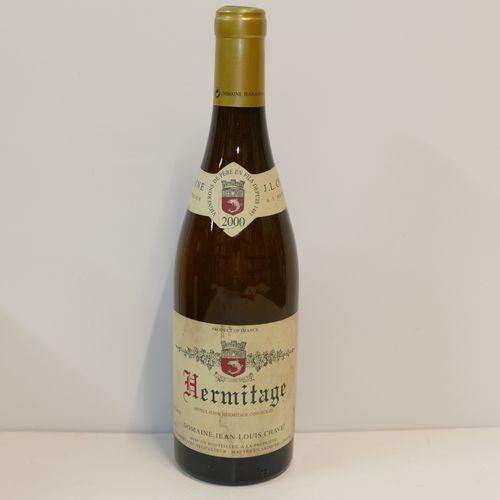 1 Btle Hermitage blanc 2000 Domaine Jean Louis Chave collerette et étiquette lég…