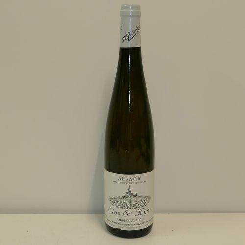 1 Btle Riesling Clos Sainte Hune 2004 Domaine Trimbach étiquette très légèrement…
