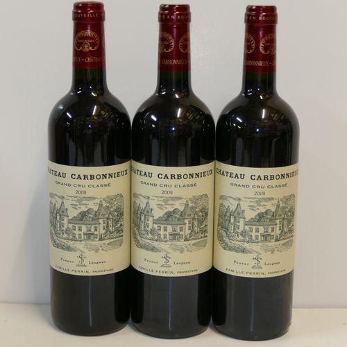 3 Btles佳博略城堡红葡萄酒2009年CC格拉芙专家:Emilie和Robert Gorreteau