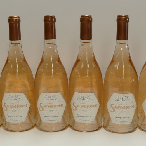 6 Btles Château La Sauvageonne La Villa rosé 2018 Gérard Bertrand IC 10/10 PM Ex…