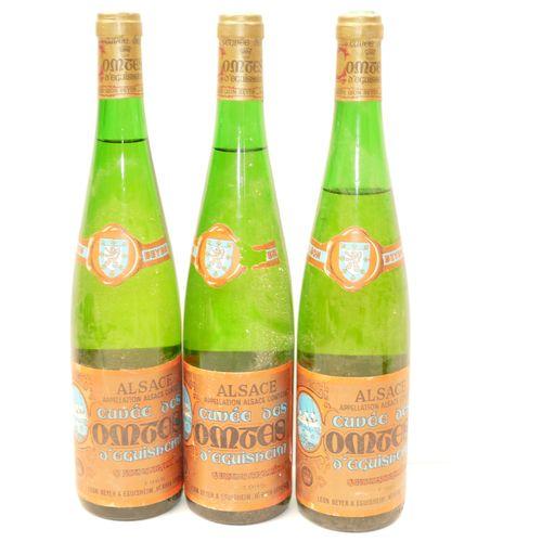 3 Btles Gewurztraminer Cuvée des Comtes d'Eguisheim 1985 Domaine Léon Beyer dont…