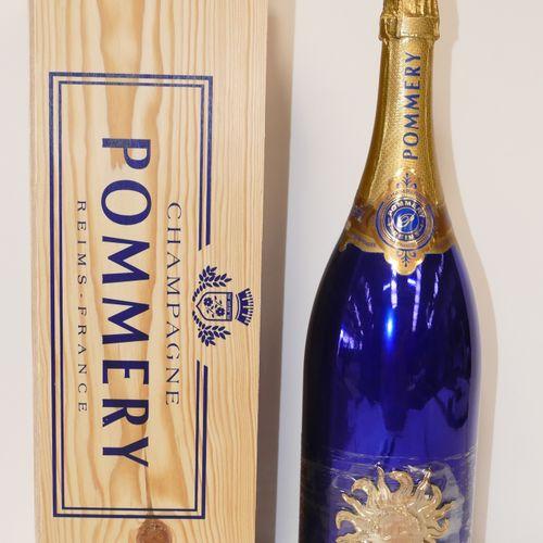 1 Jéroboam Champagne Pommery Brut millésimé 1995 en caisse bois d'origine IC 10/…