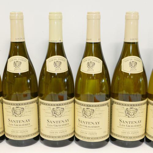 6 Btles Santenay 1er Cru Les Gravières blanc 2015 Maison Louis Jadot IC 10/10 PM…
