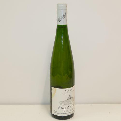 1 Btle Riesling Clos Sainte Hune 2003 Domaine Trimbach étiquette légèrement tach…