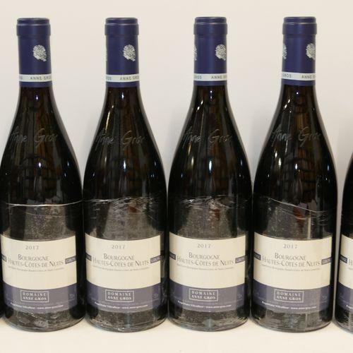 6 Btles Bourgogne Hautes Côtes de Nuits rouge 2017 Domaine Anne Gros IC 10/10 PM…