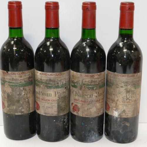 4 Btles Château Pavie 199? 1er GCCB Saint Emilion étiquettes très sales et très …