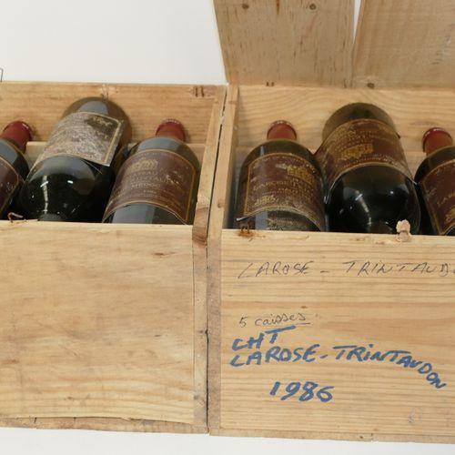 12 Btles Château Larose Trintaudon 1986 Cru Bourgeois Haut Médoc étiquettes sale…