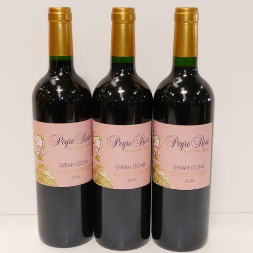 3 Btles Coteaux du Languedoc Syrah Léone 2006 Domaine Peyre Rose 专家:Emilie 和 Rob…