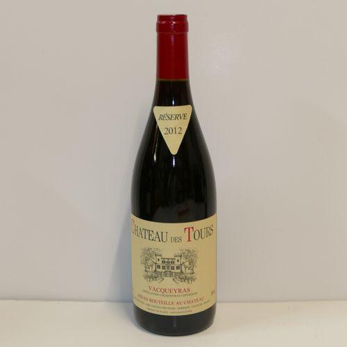 1 Btle Vacqueyras Château des Tours 2012 IC 10/10 PM Tva incluse et récupérable …