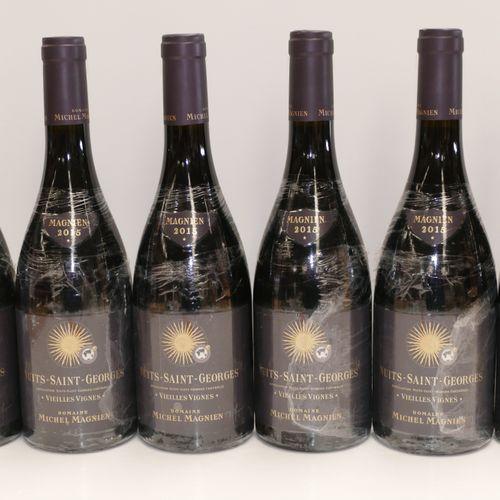 6 Btles Nuits Saint Georges Vieilles Vignes 2015 Domaine Michel Magnien IC 10/10…