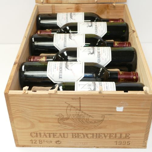 12 Btles Château Beychevelle 1995 4ème GCC Saint Julien étiquettes très légèreme…