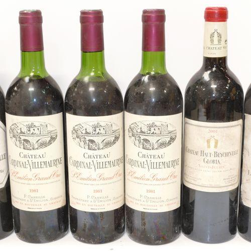 一批6瓶:1瓶Amiral de Beychevelle 1987 Saint Julien,3瓶Chateau Cardinal Villemaurine 1…