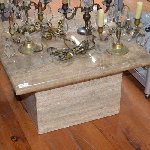 """Table basse """"bout de canapé"""" en travertin Dimensions : 60 cm x 60 cm"""