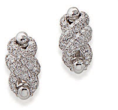 CARTIER DIAMOND NECKLACE AND EARRINGS METAL: 18K gold (750) DIAMONDS: circular c…