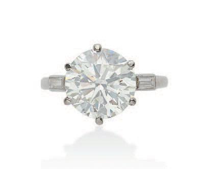 CARTIER MOUNTING DIAMOND RING METAL: platinum (950) DIAMONDS: circular cut diamo…