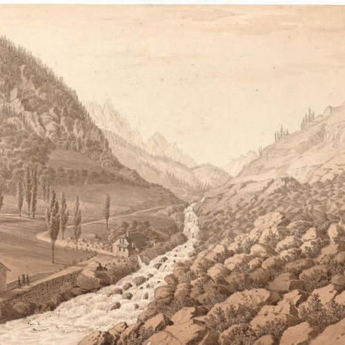 MELLING, Antoine Ignace (1763 1831). Seven views of the Pyrenees, each inscribed…