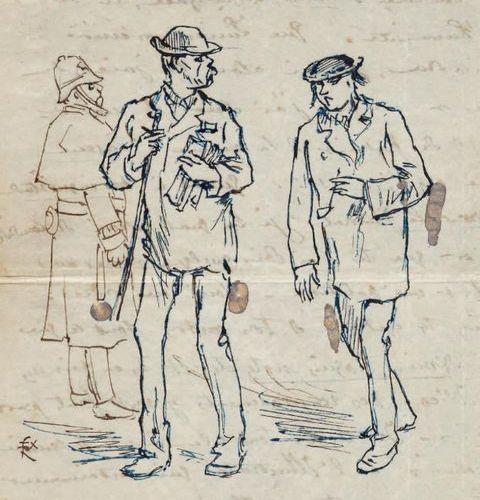 [RIMBAUD, Arthur (1854 1891) & Paul VERLAINE (1844 1896)] RÉGAMEY, Félix (1844 1…