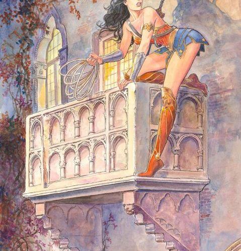 Milo MANARA (né en 1945) ?°°? Wonder woman Encres de couleur sur papier pour ce …