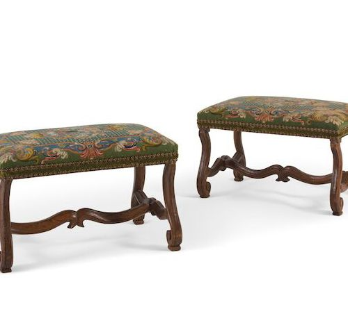 ■ PAIR OF TABOURETS FROM THE LOUIS XIV EPOQUE AT THE BEGINNING OF THE 17th CENTU…