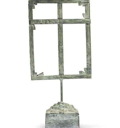 Louis Cane (né en 1943) ■ 'CHÂSSIS' Bronze patinated bronze 38,5 x 19 x 9 cm / 1…