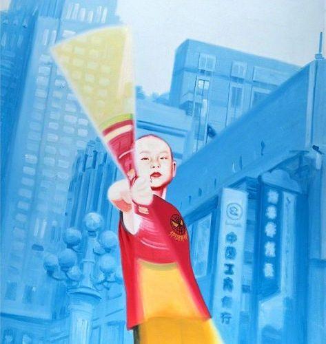 Wang DAJUN (Chinese, b.1958) 'Image of Children 4' (2003)    Signed, titled, dat…