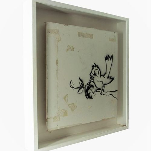 BANKSY (British, b.1974) 'Bird Grenade' (2002)    Spray paint on plaster board, …