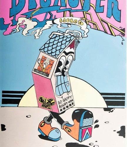 SICKBOY (British, b.1980) 'Disaster' (2014)    Hand signed on the back on the la…