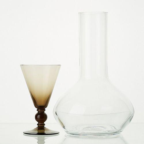 LIGNE ANTIQUE comprenant:   1 carafe ANTIQUE à décanter en verre translucide H: …