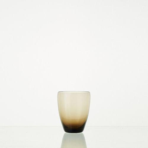 Lot composé de 6 verres WENGE translucides H: 10cm