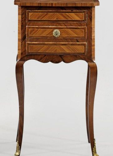 Transition Armoire de chevet Rosewood and rosewood, veneered. Straight body, fla…