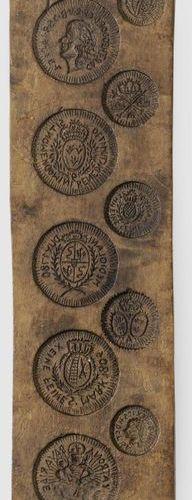 Backmodel Obstholz, geschnitzt. Hochrechteckige Form mit 10 versetzt angeordnete…