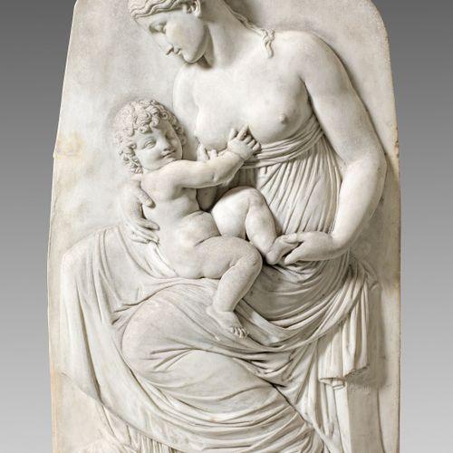 "Konrad Eberhard (1768 Hindelang 1859 Munich) Relief ""Charitas"" ou ""Amour materne…"