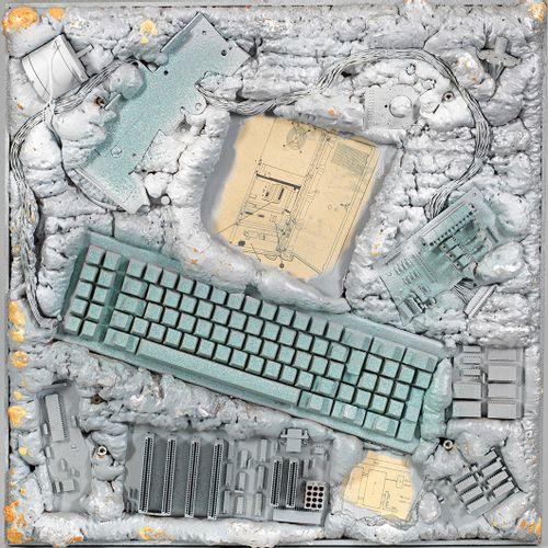 Peter Cats (Artiste contemporain allemand) Paire d'assemblages de composants d'o…