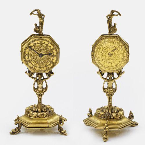 Barock Kompendium avec horloge de table, astrolabe, cadran solaire, boussole et …