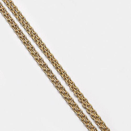 Lange Uhrenkette Or jaune, gest. 14 ct. ; chaîne extra longue dite d'ancre avec …