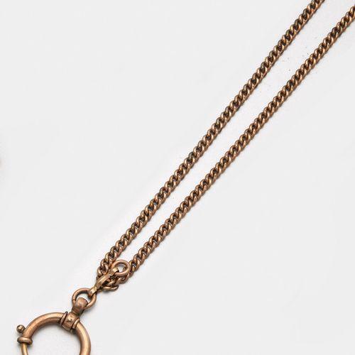 Uhrenkette von Union Or rose, 8 ct. ; chaîne plate avec fermoir à ressort large.…